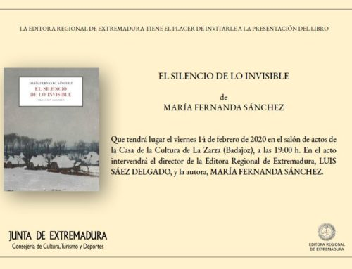 """MARÍA FERNANDA SÁNCHEZ PRESENTA """"EL SILENCIO DE LO INVISIBLE"""""""