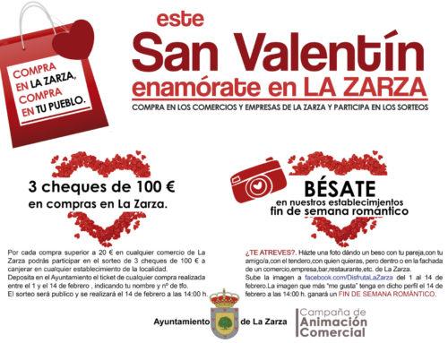 """ESTE SAN VALENTÍN ,""""ENÁMORATE EN LA ZARZA"""".CAMPAÑA DE PROMOCIÓN DEL COMERCIO LOCAL"""