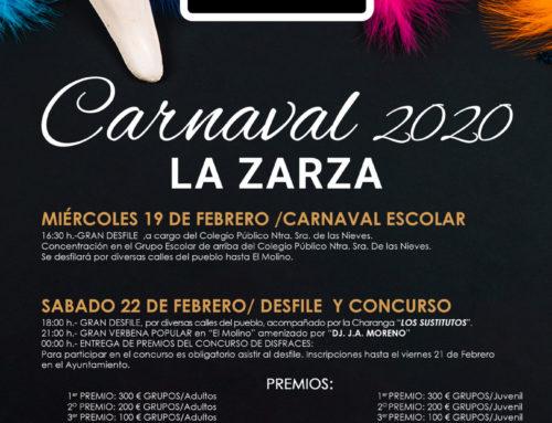 PROGRAMACIÓN DEL CARNAVAL 2020