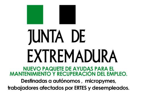 PUBLICADAS NUEVAS AYUDAS DE LA JUNTA DE EXTREMADURA