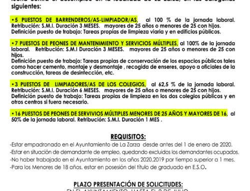 CONVOCATORIA PLAN EXTRAORDINARIO DE EMPLEO