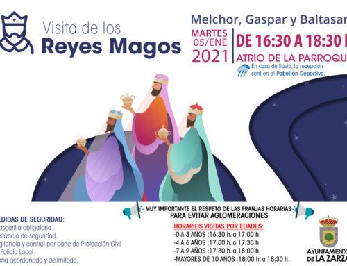 LOS REYES MAGOS SALUDARÁN EN LA ZARZA DE 16:30 A 18:30 H.